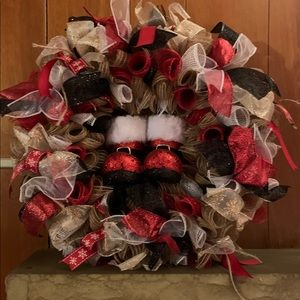 Santa's Boots Deco Wreath
